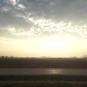Ηλιοβασίλεμα στην Πλάτη Έβρου