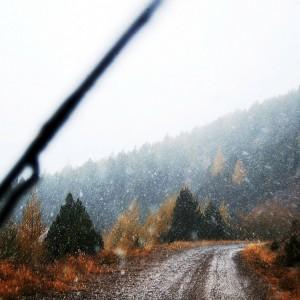 Οδηγώντας προς Αμάραντο Καρδίτσας υπό βροχή